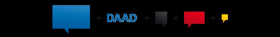 Reprise de la typographie «&nbsp;Univers&nbsp;» issue du logo DAAD. <br/> <br/>